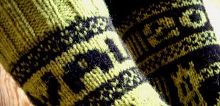 FO: Walk 2012 socks