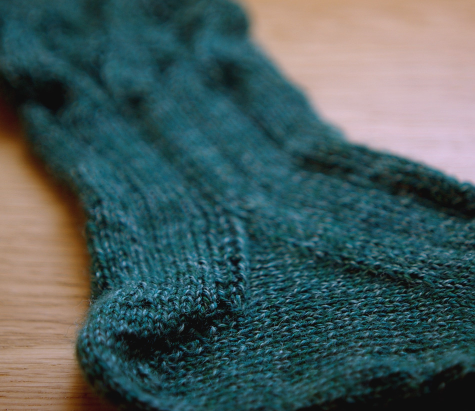 test-knitting