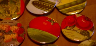 Vintage seed packet badges